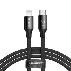BASEUS Yiven Cable Cable With Fabric USB-C PD / Lightning 2M Black