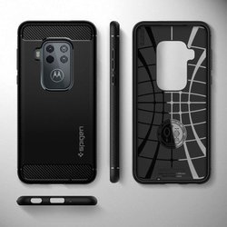 Etui SPIGEN Rugged Armor Motorola One Zoom Matte Black Czarne Case