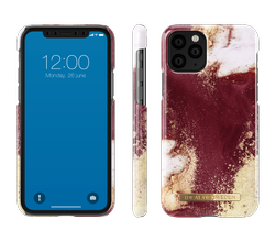 Etui iDeal Of Sweden  iPhone 11 (Golden Burgundy Marble)