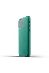 Mujjo Full Leather Case - Leather case for iPhone 11 Pro (green)