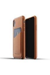 Mujjo Full Leather Wallet - Leather Case with Pocket for iPhone XR (Brown)