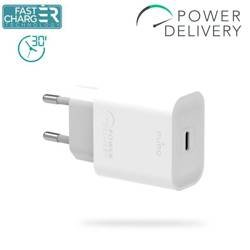 Puro Fast Charger Power Delivery Mini Travel Charger - USB-C Charger, 18 W (white)