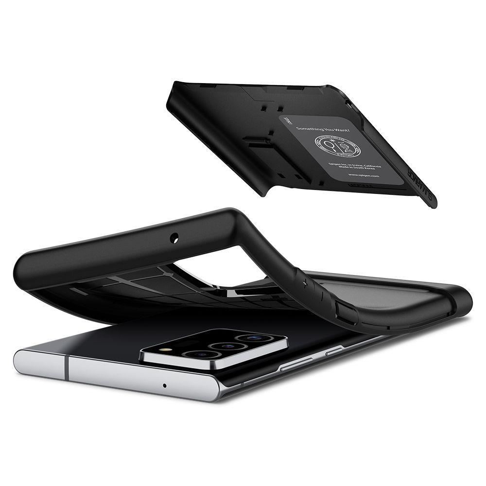 Etui SPIGEN Slim Armor Galaxy Note 20 Ultra Black Czarne Case - 4GSM.PL