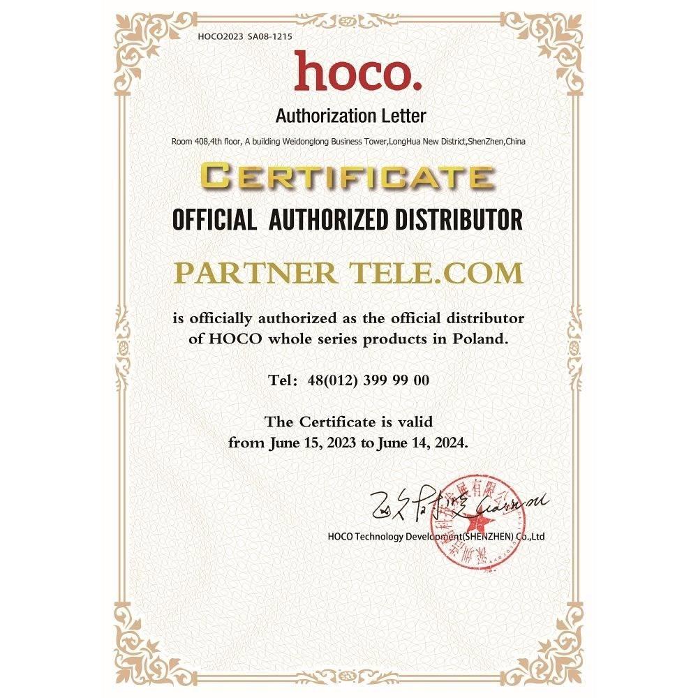 HOCO ładowarka samochodowa 2 x USB + kabel Micro Z2A 2,4A biała