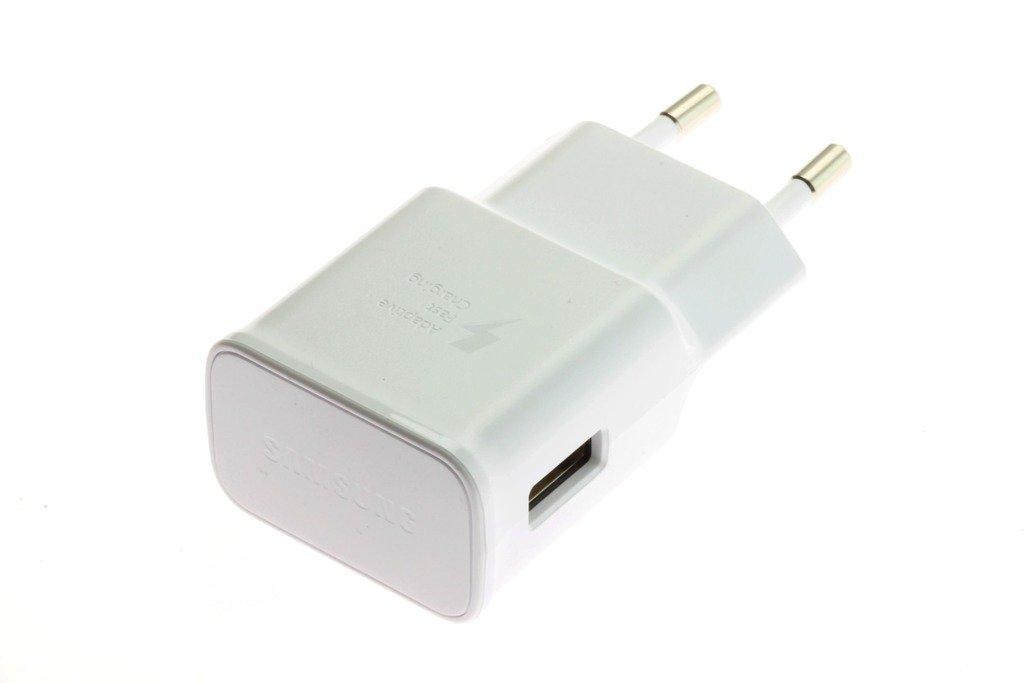 Oryginalna ŁADOWARKA SAMSUNG Fast Charging EP TA200 + Kabel USB C 1,5M Galaxy S8 S9 S10 Note 8 9 Biała