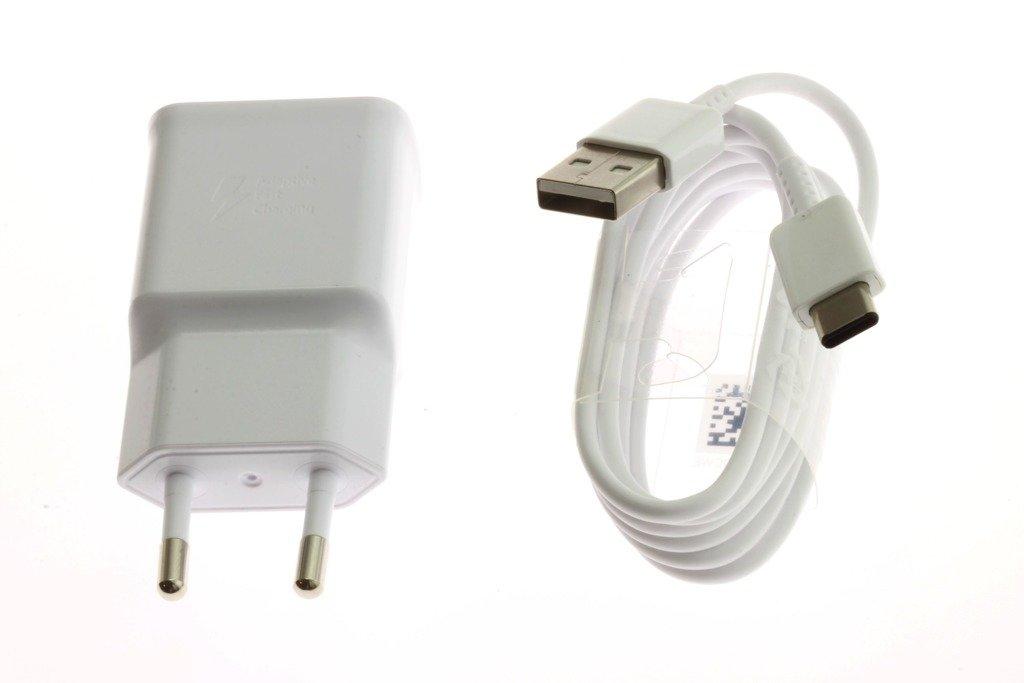 Oryginalna ŁADOWARKA SAMSUNG Fast Charging EP TA200 + Kabel USB C Galaxy A20 A40 A50 A70 Note 8 9