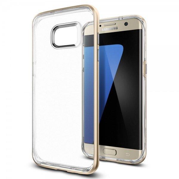515a1f01dd31b4 ... Pokrowiec Etui Spigen Neo Hybrid CC Samsung Galaxy S7 EDGE Champagne  Gold ...