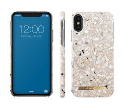 Etui Apple iPhone X/Xs iDeal Of Sweden Greige Terazzo