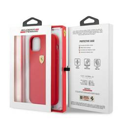 Etui Ferrari Apple iPhone 12 Pro Max On Track Silicone Czerwony Case