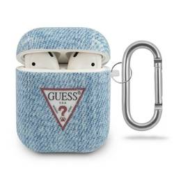 Etui GUESS Apple AirPods Cover Jeans Collection GUACA2TPUJULLB Niebieski Case