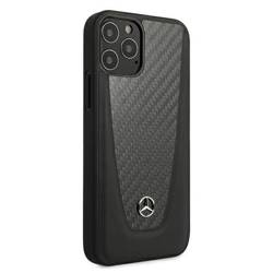 Etui MERCEDES Apple iPhone 12 12 Pro Carbon Dynamic Line MEHCP12MACABK Czarny Hardcase
