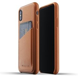 Etui Mujjot iPhone X Xs brązowe Full Leather Wallet