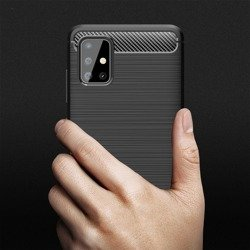 Etui TECH-PROTECT Tpucarbon Samsung Galaxy A71 Black Czarne Case