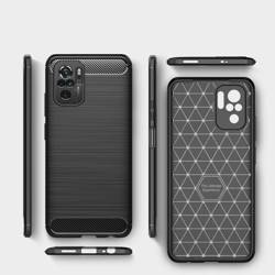 Etui TECH-PROTECT Xiaomi Redmi Note 10/10S Tpucarbon Black Case
