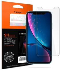 POKROWIEC ETUI SPIGEN ULTRA HYBRID APPLE IPHONE XR CLEAR + SZKŁO SPIGEN