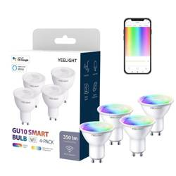 Smart żarówka LED Yeelight GU10 Smart Bulb W1 (kolor) - 4szt