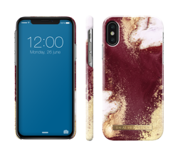iDeal Of Sweden - etui ochronne do iPhone X/Xs (Golden Burgundy Marble)