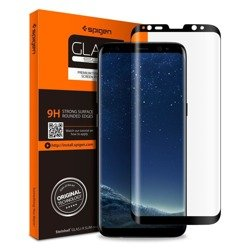 SZKŁO HARTOWANE SPIGEN GLAS.TR CASE FRIENDLY SAMSUNG GALAXY S8+ PLUS BLACK